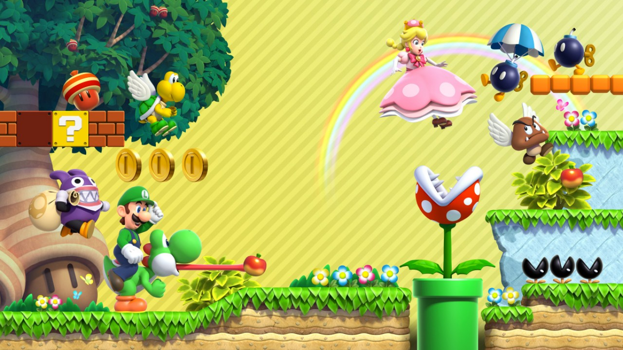 Mushroom Kingdom Features As New Wallpaper From My Nintendo